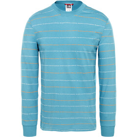The North Face Stripes Camiseta de manga larga Hombre, storm blue